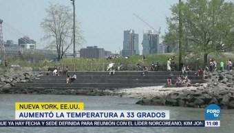 Nueva York registra cambio brusco de temperatura