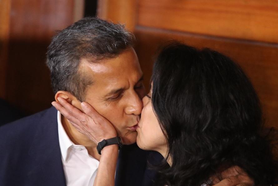 Foto: El expresidente peruano Ollanta Humala y su esposa, 30 de abril de 2018, Perú