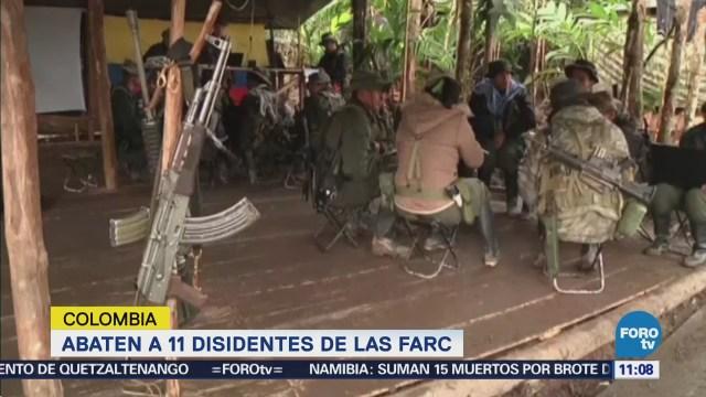 Once disidentes de las FARC mueren en operación militar