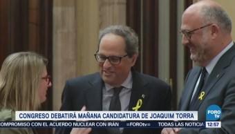 Congreso Cataluña Debatirá Candidatura Joaquim Torra