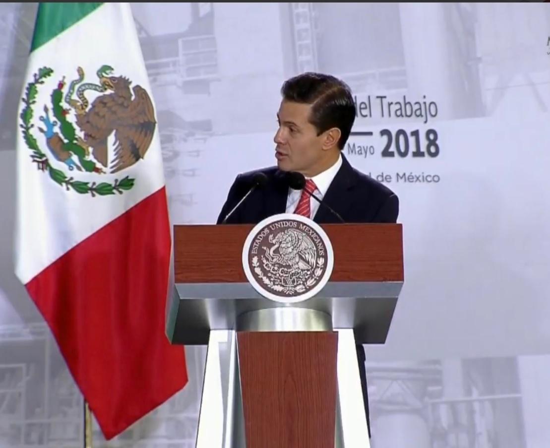 El presidente Peña Nieto anuncia la creación de 3.6 millones de empleos