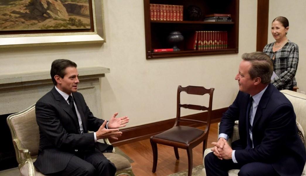 Peña Nieto sostiene reunión con David Cameron, exprimer ministro de Reino Unido