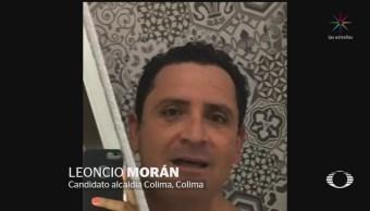 Perla Negra: Candidato de Colima inicia campaña desde la regadera