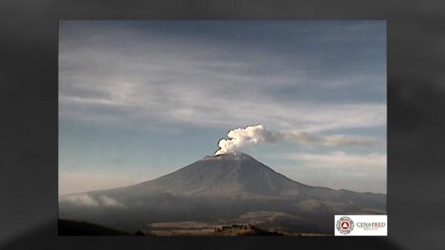 Volcán Popocatépetl emite 81 exhalaciones de baja intensidad