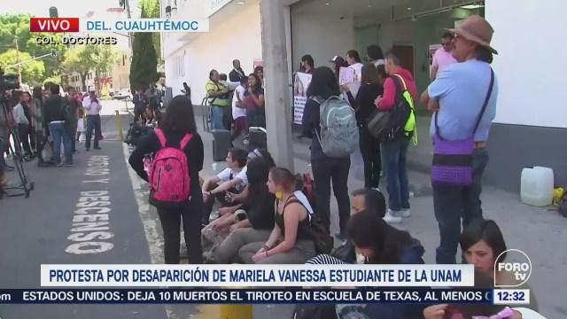 Protestan por desaparición de la estudiante Mariela Vanessa