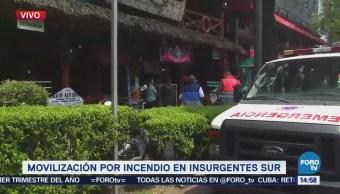 Controlan Conato Incendio Insurgentes Sur CDMX