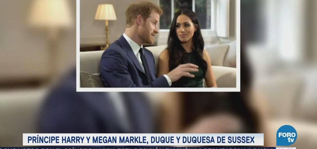 Reina Isabel Ii Concede Príncipe Enrique Título Duque Sussex