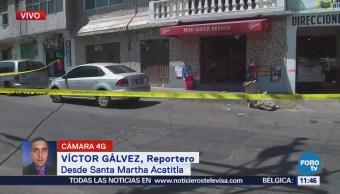 Reportan a tres custodios heridos en Santa Martha, Iztapalapa