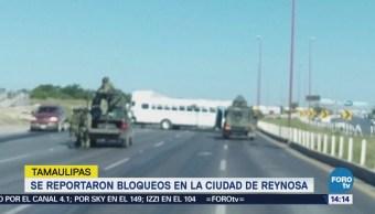Reportan Bloqueos Reynosa Tamaulipas Detonaciones Enfrentamientos