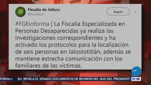 Reportan Desaparición Seis Policías Jalisco Fiscalía