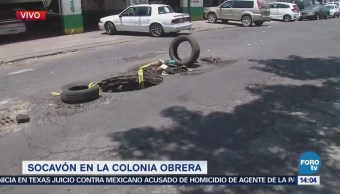 Reportan Socavón Colonia Obrera Cdmx