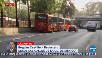 Reportan tránsito pesado en avenida Insurgentes Norte, CDMX