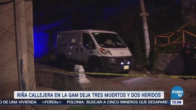 Riña callejera en la GAM deja tres muertos y dos heridos