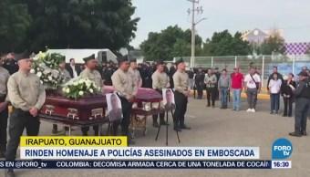 Rinden Homenaje Policías Asesinados Emboscada Irapuato