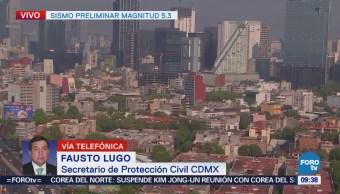 Se activaron protocolos de seguridad tras sismo en CDMX, dice Fausto Lugo