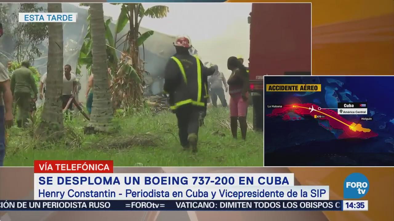 Desploma Avión Inmediaciones Aeropuerto Habana