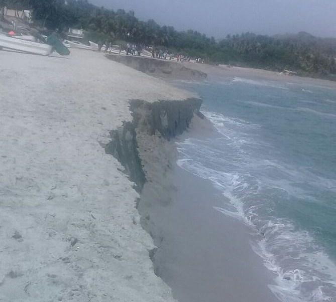 Se presenta fenómeno de pleamar en costas de Oaxaca