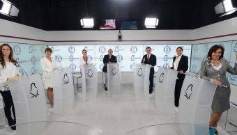 Aspirantes al Gobierno de la CDMX en el segundo debate.