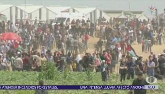 Suman 60 muertos por ofensiva de Israel ante protestas de palestinos