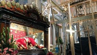 Avanza rescate del templo Santa Mónica en Puebla, tras el 19S