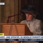 Tía De Enrique Jane Spencer Mensaje Durante Misa