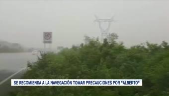 Tormenta subtropical Alberto se aleja de Quintana Roo