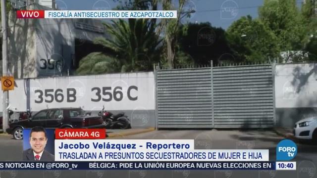 Trasladan a presuntos secuestradores de Tláhuac a Fiscalía en Azcapotzalco