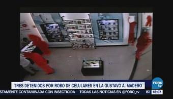 Tres detenidos por robo de celulares en la GAM