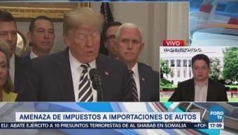 Trump amenaza con impuestos a importaciones