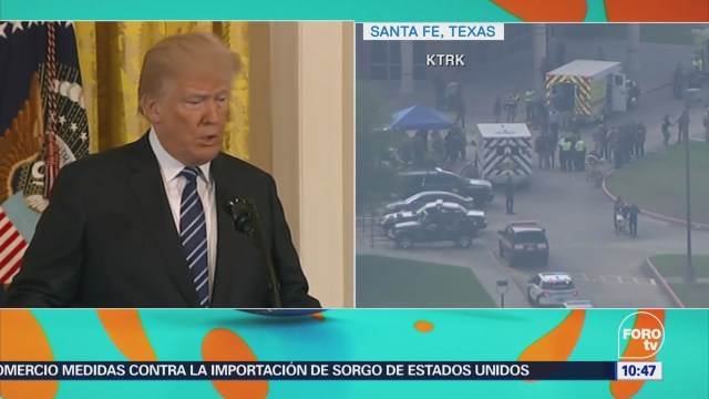 Trump angustiado por tiroteo absolutamente horrible