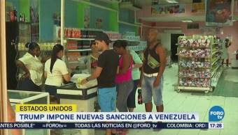 Trump Impone Sanciones Venezuela