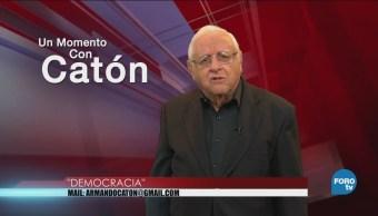 Momento Armando Fuentes Catón Mayo Democracia