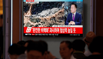 Corea del Norte destruye base de pruebas nucleares