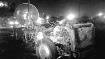 Incendian pipa en Iztapalapa, el segundo caso en la CDMX