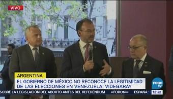 Videgaray: México no reconoce las elecciones en Venezuela