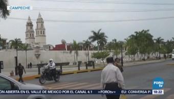 Vientos y fuertes lluvias en Campeche