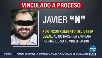 Vinculan a Javier Duarte a proceso por tres delitos