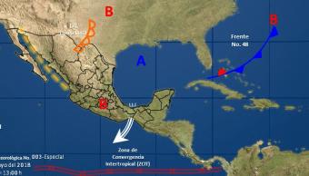 Zona de inestabilidad al sur de BCS tiene 50% de potencial ciclónico