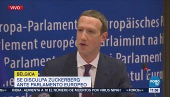 Zuckerberg comparece ante el Parlamento Europeo