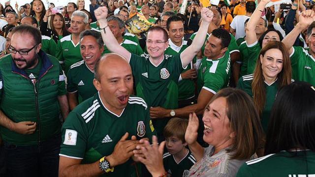 Ricardo Anaya celebra triunfo de México en Mundial de Rusia