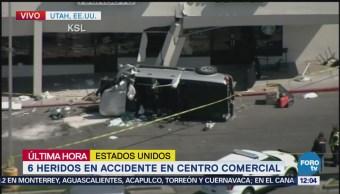 Accidente en centro comercial en Utah