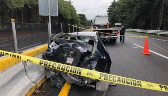 Muere conductor en accidente en la autopista México-Cuernavaca
