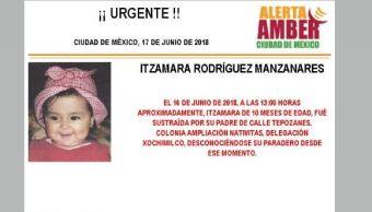 Activan Alerta Ámber localizar bebé sustraída Xochimilco