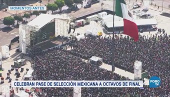 Aficionados a la selección mexicana siguen reunidos en el Ángel