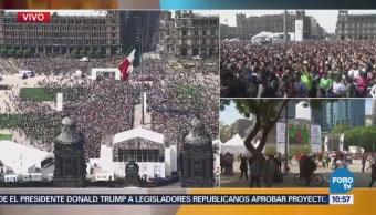Aficionados mexicanos celebran victoria, de Corea del Sur