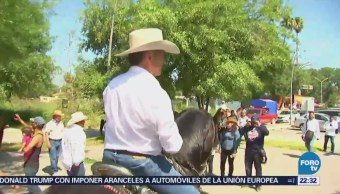Jaime Rodríguez Calderón Realiza Cabalgata Nuevo León