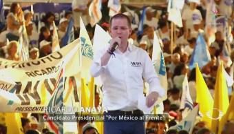 Anaya cierra campaña en Guanajuato