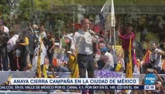 Anaya Cierra Campaña Ciudad De México