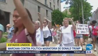 Arrestan Cientos Mujeres Manifestación Políticas Migratorias Trump