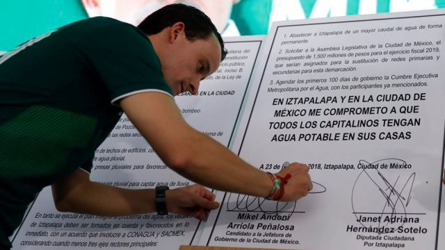 mikel arriola firma pacto concluir acuaferico iztapalapa